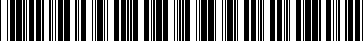 Barcode for PT2063210045